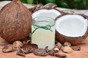 Kokoswasser-Anwendung